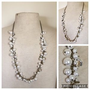 Chloe and Isabel Crystal and pearl necklace